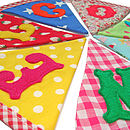 Welcome Bunting Close Up
