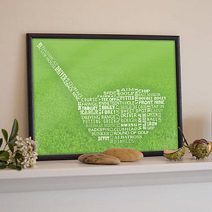 Golf Typography Print - gifts for golfers