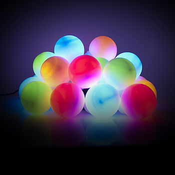 Solar party bauble lights