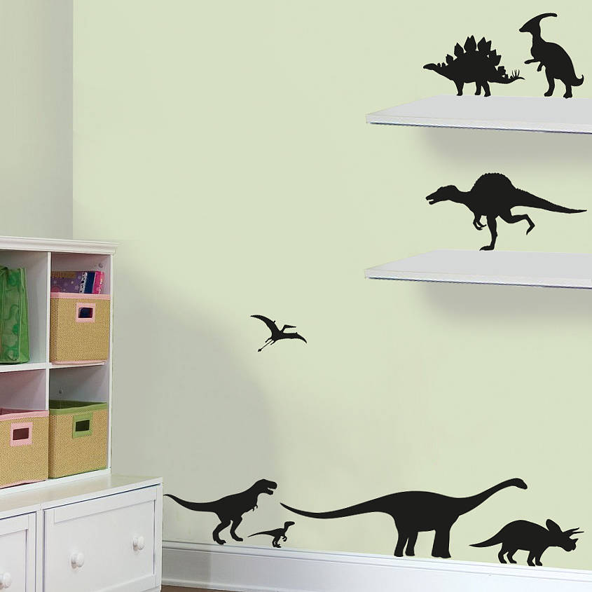 Pack Of Dinosaurs Vinyl Wall Stickers By Oakdene Designs