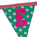 Home Sweet Home Bunting 'E' Flag