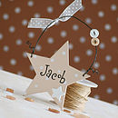Personalised Star Decoration, small
