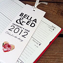 'Doris' Save the date, tear off bookmark