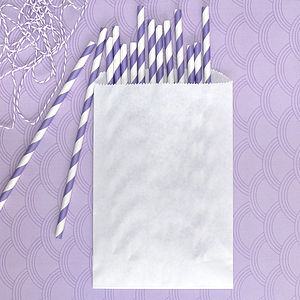 Brown And White Paper Bags - wrapping