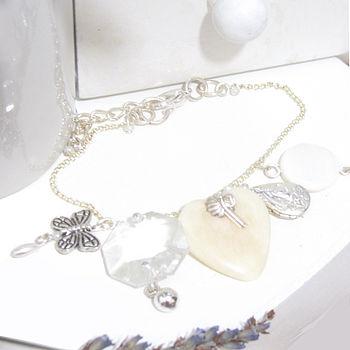 Heart Locket And Butterfly Charm Bracelet