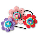Make Your Own Floral Hair Slide Craft Kit