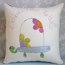 Personalised Little Turtle Cushion