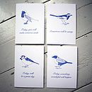'Bird Family' Cards