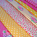 Girly Pinks and Yellows Example Fabrics