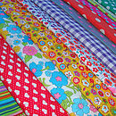 Bright and Funky Example Fabrics