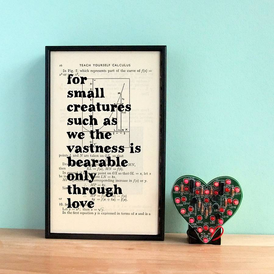 Carl Sagan Love Quote: Carl Sagan Love Quote Art By Bookishly