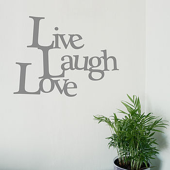 'Live, Laugh, Love' Vinyl Wall Sticker