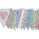 large Just Married Bunting in Country Florals