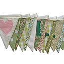 Just Married Bunting in Sage Greens