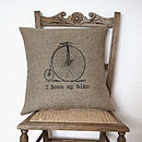 'I Love My Bike' Cushion Cover
