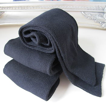 Supersoft Black Bamboo Socks