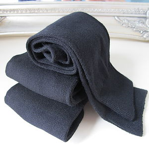 Supersoft Black Bamboo Socks - view all sale items