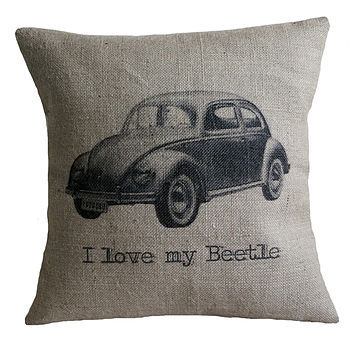 'I Love My Beetle' Cushion Cover