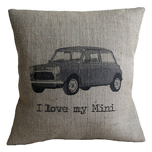 'I Love My Mini' Cushion Cover - cushions
