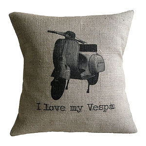 'I Love My Vespa' Cushion Cover