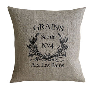 'Grains Sac' Cushion - bedroom