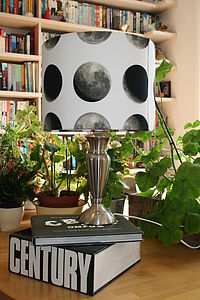 Lunar Moon Cycle Lampshade - lighting