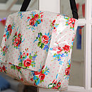 Oilcloth Vintage Inspired School Bag