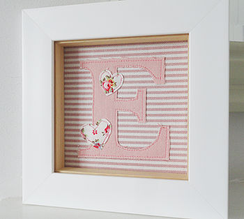 Fabric Initial Letter E