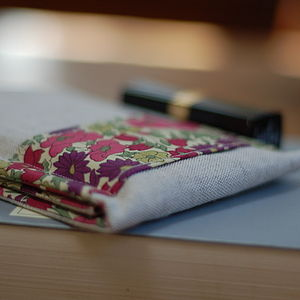 Handmade Linen And Liberty Print Phone Case - phone & tablet covers & cases