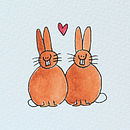 Personalised 'Lovebunnies' Handmade Card