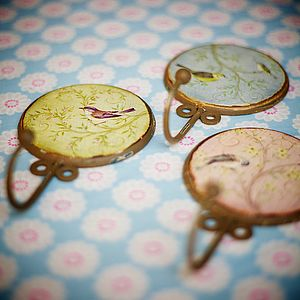 Set Of Three Vintage Style Hooks - storage & organisers