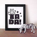 Children's Room 'Tada' Magic Print