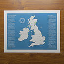 UK And Ireland Golf Map