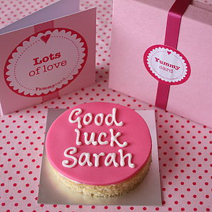 Good Luck Cake Card - good luck cards
