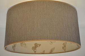 Light Brown Fabric With Butterfly Inner - lighting