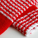 Striped Rib Fingerless Gloves close-up