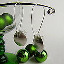 Mistletoe And Wine Oval Dish Earrings