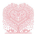 Family Tree Print in Cinder Rose