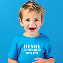 Child's Personalised 'Limited Edition' T Shirt