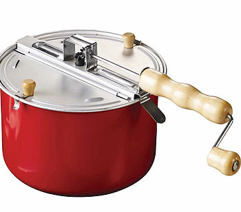 Red Stovetop Popcorn Maker