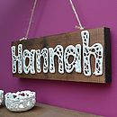 Personalised Porcelain Word Sign