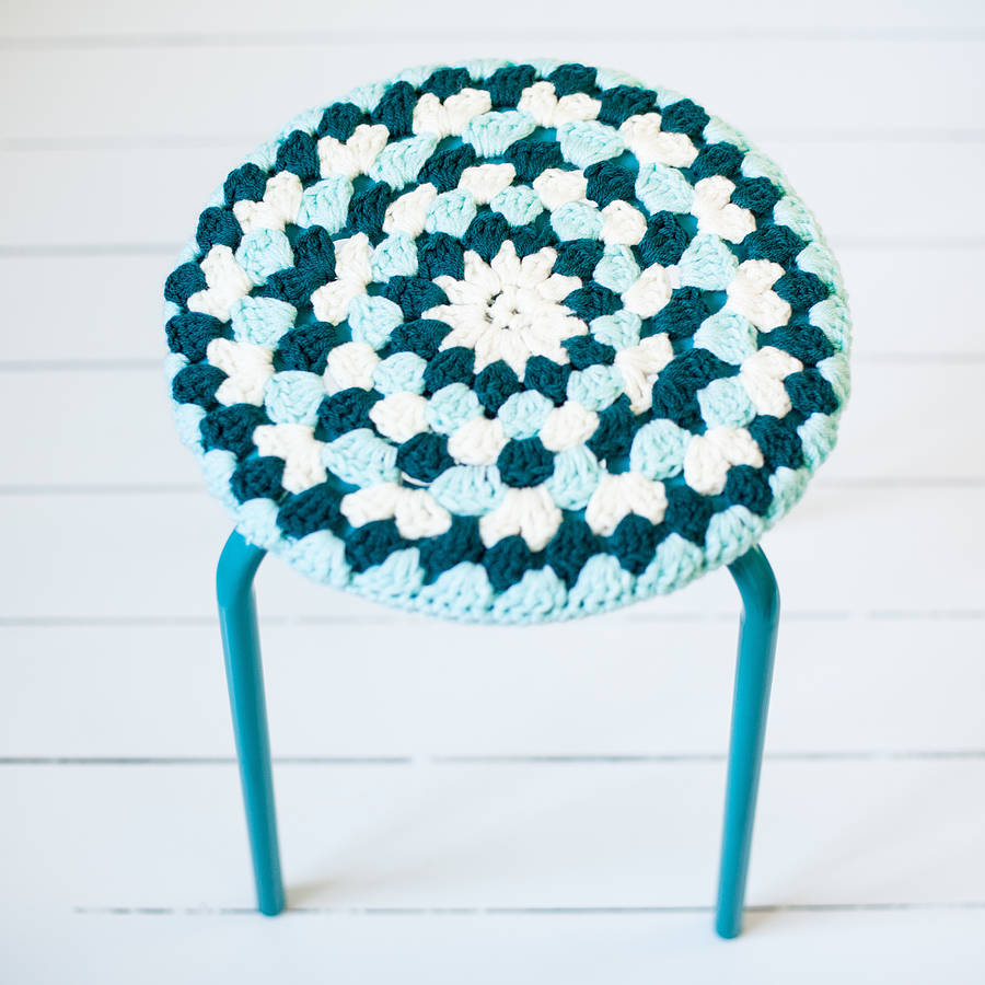 crocheted stool cover by eka | notonthehighstreet.com