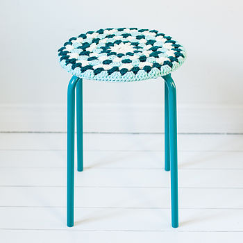 Crocheted Stool Cover