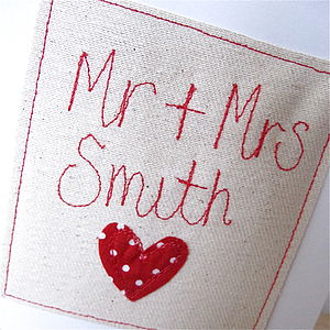 Personalised 'Mr & Mrs' Wedding Card