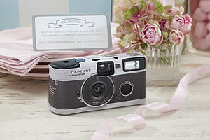 Vintage Inspired Wedding Disposable Camera - parties