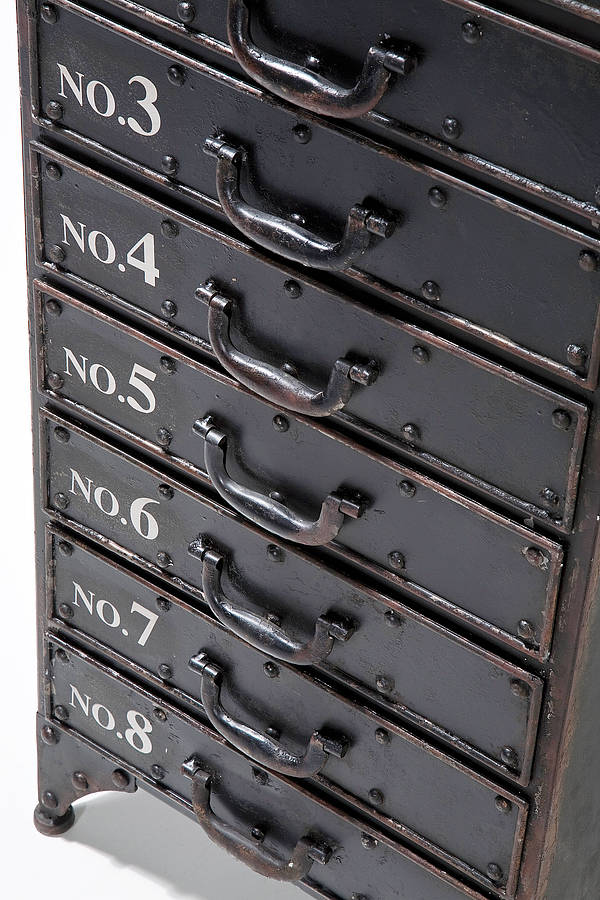 distressed metal drawer cabinet by i love retro ...