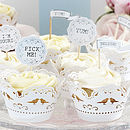 Vintage Inspired Cupcake Flag Decorations