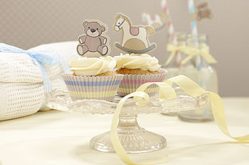 Rocking Horse & Teddy Cupcake Cases & Toppers