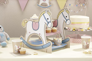 Rocking Horse Cupcake Or Sandwich Stand - cake decorations