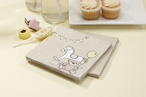 Rock A Bye Baby Party Paper Napkins - baby & child sale